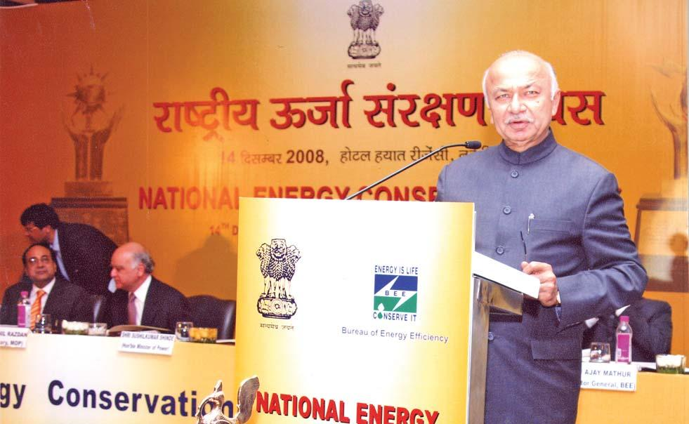 Sh. Sushilkumar Shinde, Minister of Power at National Launch of Energy Conservation Building Code (ECBC) of energy efficient equipment or appliances Promote innovative financing of energy efficiency