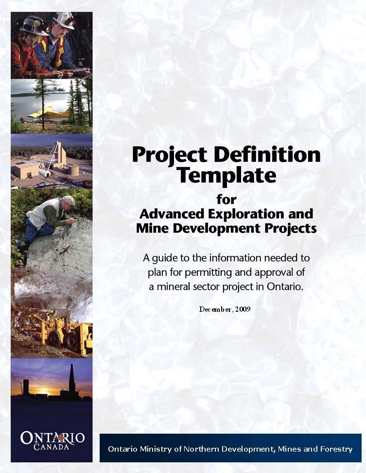 APPENDIX A: PROJECT DEFINITION TEMPLATE See full