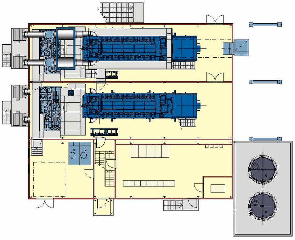 Evaluation Of Orc Steam Turbine Cycle And With Kth Pdf Cogeneration Engine Diagram Type Lay Out For 2x20v34sg Chp Plant Ground Floor Oil Wetted Charge Air Filter