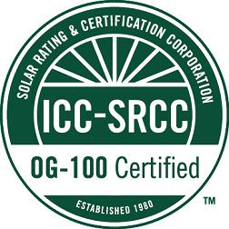 ICC-SRCC OG-100 Certification Label The collectors listed in this certification must display the label below.