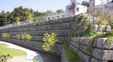 INSTALLING PLANTER BLOCKS... Planter block features may be incorporated into the design of the wall. Planter blocks are used to provide for vegetation to break up the face of a wall.