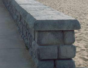 FREESTANDING WALLS Figure 44 Figure 45 Redi-Rock freestanding wall blocks have facing texture on two or three sides. They are used in applications where two or three sides of the wall are visible.