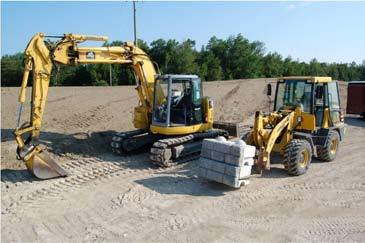 EQUIPMENT Make sure you have the proper equipment to handle Redi-Rock blocks and install the wall. Redi-Rock blocks can weigh up to 3,500 pounds each.