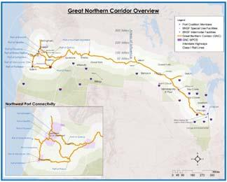 Great Northern Corridor Crosses Multiple Geopolitical Boundaries: 8 States: IL, WI, MN, ND, MT, ID, OR, WA WA, OR, MT, MN Ports 18 MPOs 1,000 Municipalities 125 Counties 27 Million Americans, 12
