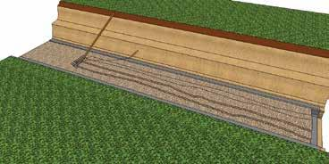mixing with the gravel base leveling pad during compaction Fabric also provides extra Structural Bearing Stability to the base leveling pad Rake for