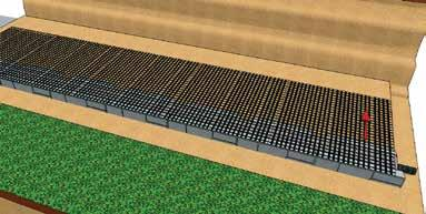 Geogrid Reinforcement Cut in Lengths Designed by Engineer Step 2 Cut Geogrid Geogrid Reinforcement Cut Geogrid Reinforcement to the length specified in the design Geogrids are manufactured in two
