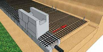 recessed 50mm or more to allow for the SecureLugs connection Complete the installation of units on the Geogrid Reinforced courses Make