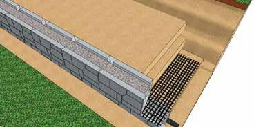 maintain the tension of the Geogrid during backfilling Do not drive equipment directly on top of Geogrid SecureLug Geogrid Connection