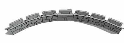 MAGNUMSTONE INSTALLATION GUIDE MAGNUMSTONE WALL Concave/Inside Curves Step 1 Concave First Course If possible, start building a curve from the center and