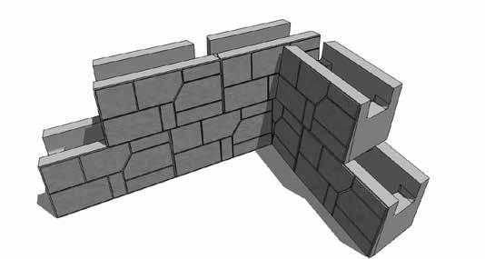 Geogrid Corner Each Geogrid length should be laid perpendicularly to the wall face 1st Geogrid Section Height/4 Overlap Through the Backfill 2nd Geogrid Section Geogrid should not overlap on the