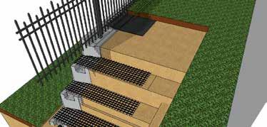 MAGNUMSTONE INSTALLATION GUIDE MAGNUMSTONE TOP OF WALL Details Grass Swales An impermeable soil Swale
