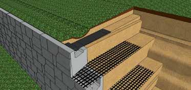 Concrete Swales Concrete Swales can be placed on top of the MagnumStone wall to take care of any