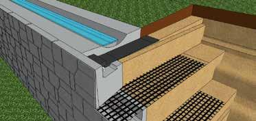 guard rails can be placed into the large vertical hollow cores Fill the vertical and hollow cores with