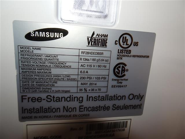 Other (1) Model/Serial Number for Dryer.