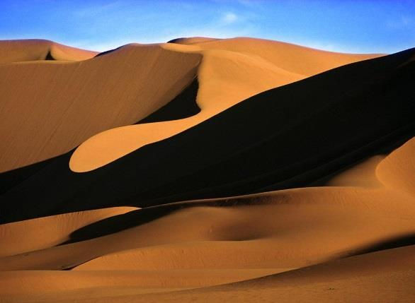DESERT Arid regions can be hot or cold deserts.