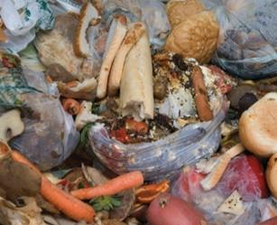 Diverting food / kitchen waste to an existing