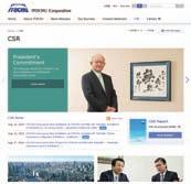 HIGHLIGHT The following two initiatives, which are related to the four major CSR agenda items for ITOCHU's sustainable business activities, are presented in this report as highlighted features.