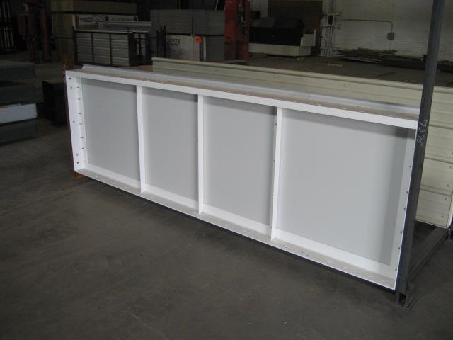 The Kelly Klosure pre-framed modular panel has 4 components that are