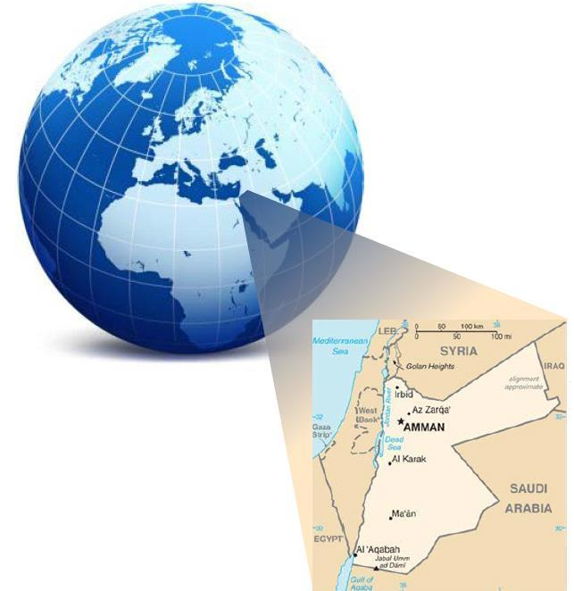 The Hashemite Kingdom Of Jordan Quick Facts (2015) Area: 89 342 km 2
