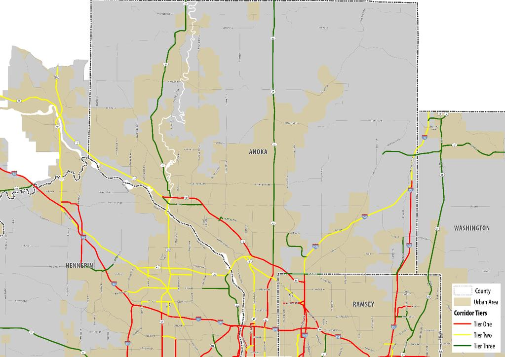 Appendix E: County Maps of Truck Freight Corridors