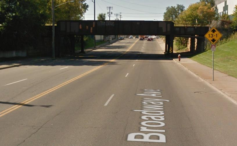 12 The bridge that provides the grade separated railroad crossing between NE Buchanan Street and NE Lincoln Street, (at which Broadway Street passes under), is unsafe to reasonably accommodate