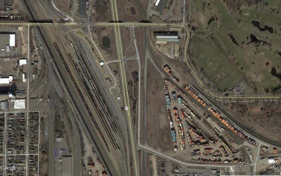 Figure 4-15: University Avenue near Intermodal Facility Aerial View 4 3 2 1 Source: Google Maps o This area needs further