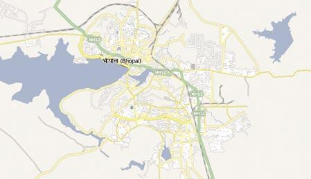 BHOJ WETLAND (Upper & Lower lakes of Bhopal) Bhoj wetland consists of two man-made lakes - the Upper Lake and Lower lake- with in Bhopal city 77 o 15 77 o 26 E longitude and 23 o 13 23 o 16 N