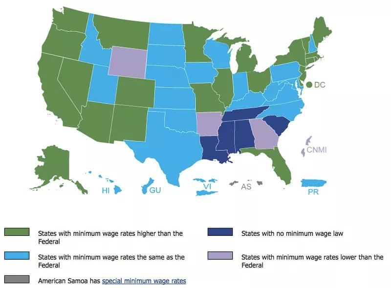 STATE LAWS Some states may have wage and