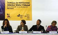 Turkish actress Pelin Batu attends the mock trial The initiative, aimed to raise awareness on water resources management, preceded the fifth World Water Forum, which began in Istanbul on March 16