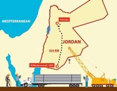 The Disi Water Conveyance Project includes construction of a 325-kilometer pipeline that will pump water from the Disi aquifer in Mudawarra to Jordan s most populous city, the capital Amman.