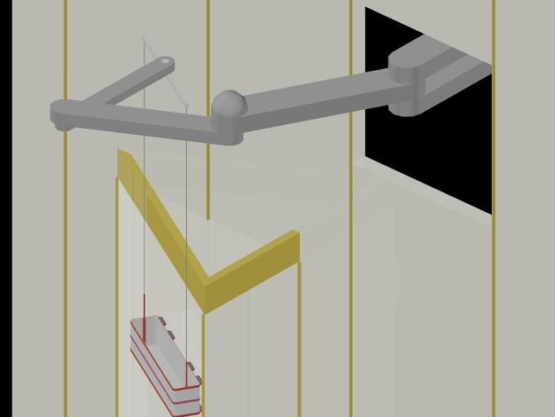 Sketch 4-4 Articulating Boom Allows Total Elevation Access Access to a deep curtain wall recess requires significant