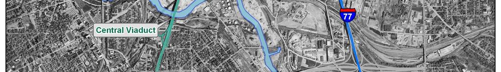 The Innerbelt Trench distributes interstate traffic to the CBD and neighboring businesses and institutions through the city s east-west street grid.