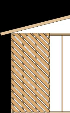 Bracing Basics: Intermittent Bracing Method DWB Diagonal Wood Boards Wood boards 3/4""