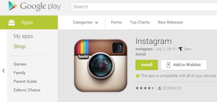 Joining Instagram Signing up for an Instagram account is as simple as going into your smartphone's app store (for Android phones it's called Play Store) and downloading the app.