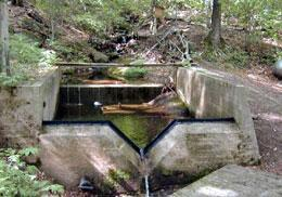 54 Andrews Precalibrated Structures: On small watersheds, (<800 ha), precalibrated structures are often used because of their convenience and accuracy. The most common of these are weirs and flumes.