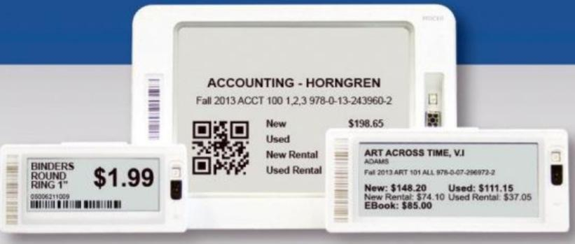 Electronic Shelf Tags Electronic Shelf Tags (ESL) are available to use in addition to the print options. These electronic tags must be purchased.