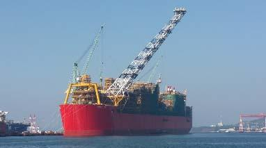 going Length: 488 meters, width: 74 meters Weight: Steel: 260,000 tons Displacement (tanks full): 600,000 tons Comparison Eiffel Tower iron structure = 7,300 tons Prelude