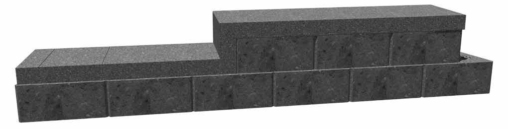 "Step/Cap Block cut to 6"" or 8"" Step 7 - Capping a Curved Wall The Step/Cap is rectangular in shape and is perfect for straight walls. For radius turns, an XL cap will need to be saw cut to fit."