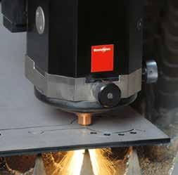 and cut complex profiles HOW A LASER BEAM CUTS Raw Beam Focusing Lens Light Amplification by Stimulated Emission of Radiation Material Assist Gas Jet Molten Material Laser Cutting - The