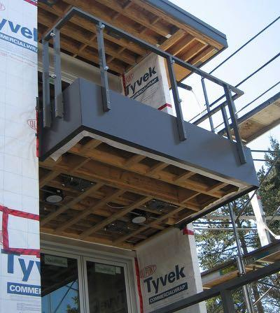 Wood-Framed Balcony Likely the most common framing method Questions: Where is the air