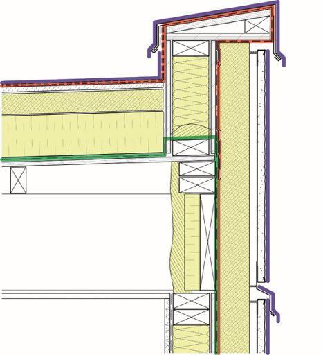Roof to Wall Control Layers (EI) Air barrier: Use the