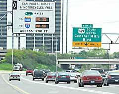 Minneapolis and the southern suburbs Existing HOV lanes converted to dynamically-priced HOT