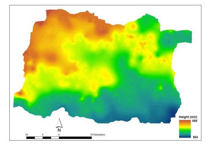 Fig. 2 Physiography and Drainage Map of the Baramati Tahsil Soil Types:- The fertility of soil is one of the factors affecting land capability of agricultural development.