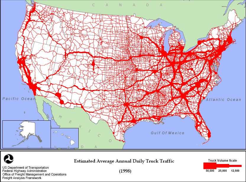 More Highway Gridlock Coming Truck Traffic 1998 2020