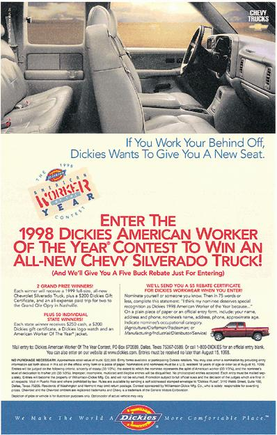 Contests and Sweepstakes Dickies