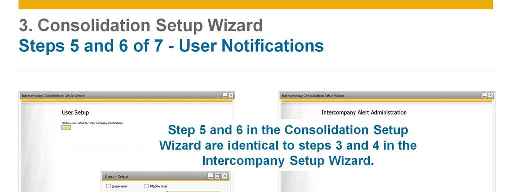 Steps 5 and 6 in the Consolidation