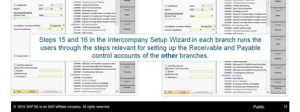 Step 17 in the setup wizard highlights the relevant fields in the Business Partner Master Data window that should be defined for a vendor or a customer