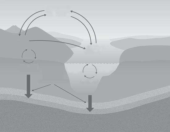 Interpreting Illustrations Use with textbook pages 69 70, 86 87. The cycling of nutrients in the biosphere Use the general model of a nutrient cycle to answer the questions below.