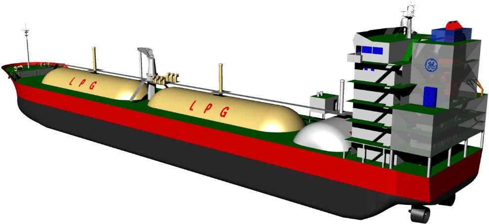 Small LPG carrier.