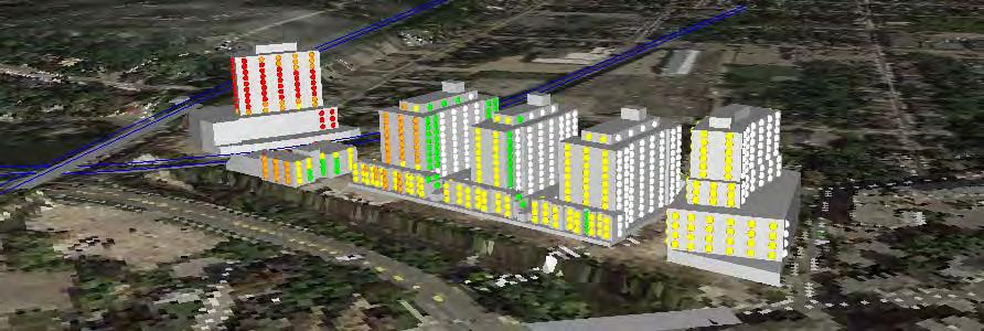 3b Scale: n/a Façade Sound Levels Railway Impacts South and West Façades Guelph Woods Development Guelph,